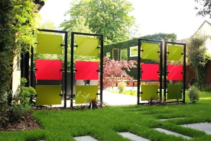 brise-vue jardin en métal