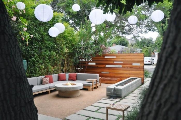 brise-vue jardin mur en bois