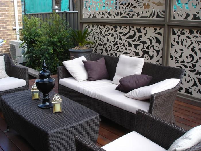 brise-vue pation panneaux décoratifs