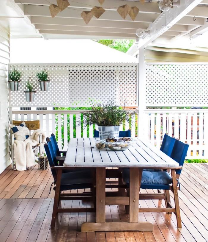 brise-vue pour la terrasse en bois