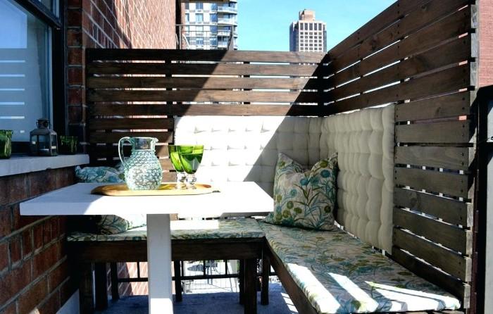brise-vue pour le balcon bois
