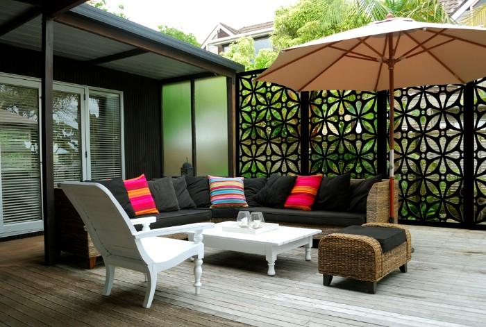 brise-vue terrasse panneaux décoratifs en métal