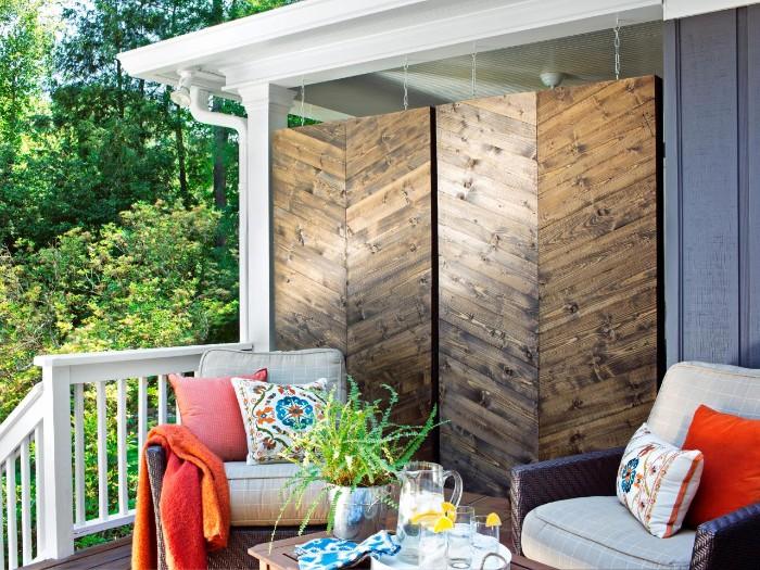 brise-vue terrasse panneaux en bois