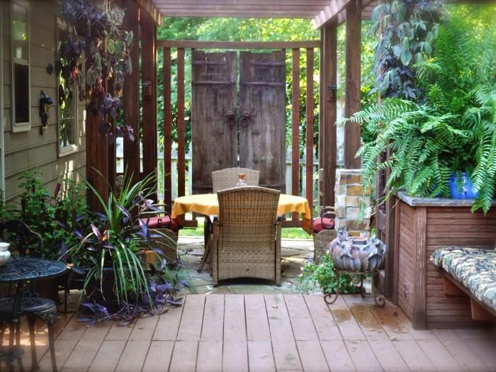 brise-vue terrasse portes en bois