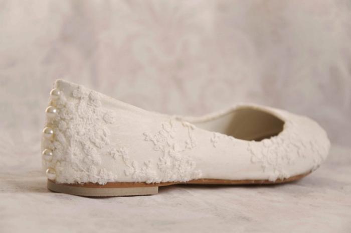 chaussures mariage femme avec dentelle