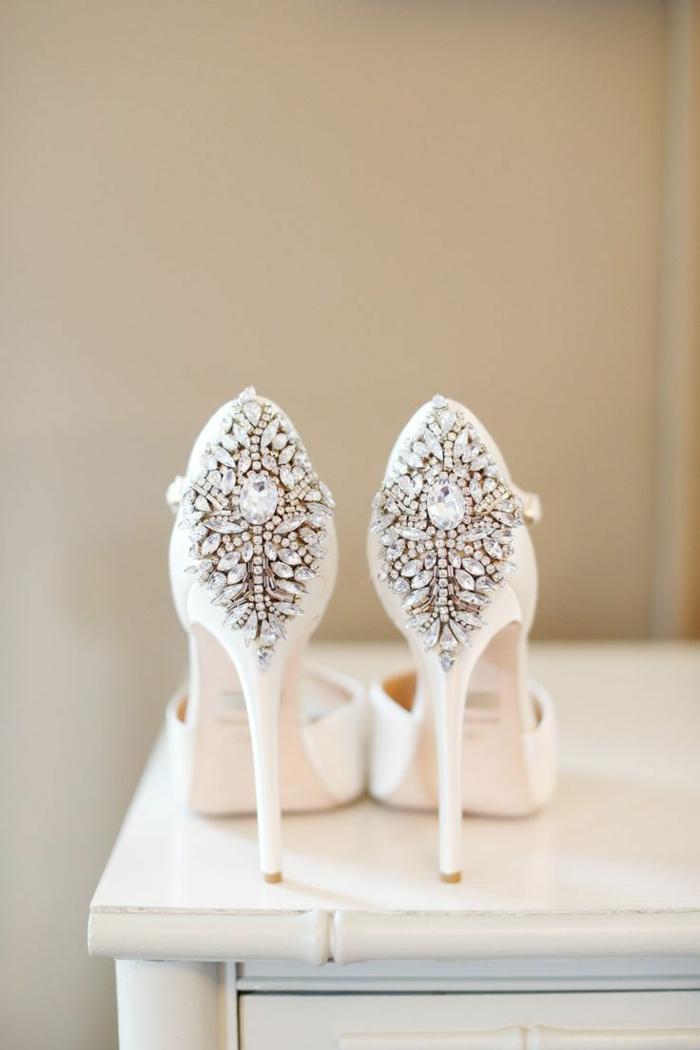 chaussures mariage femme avec des cristaux