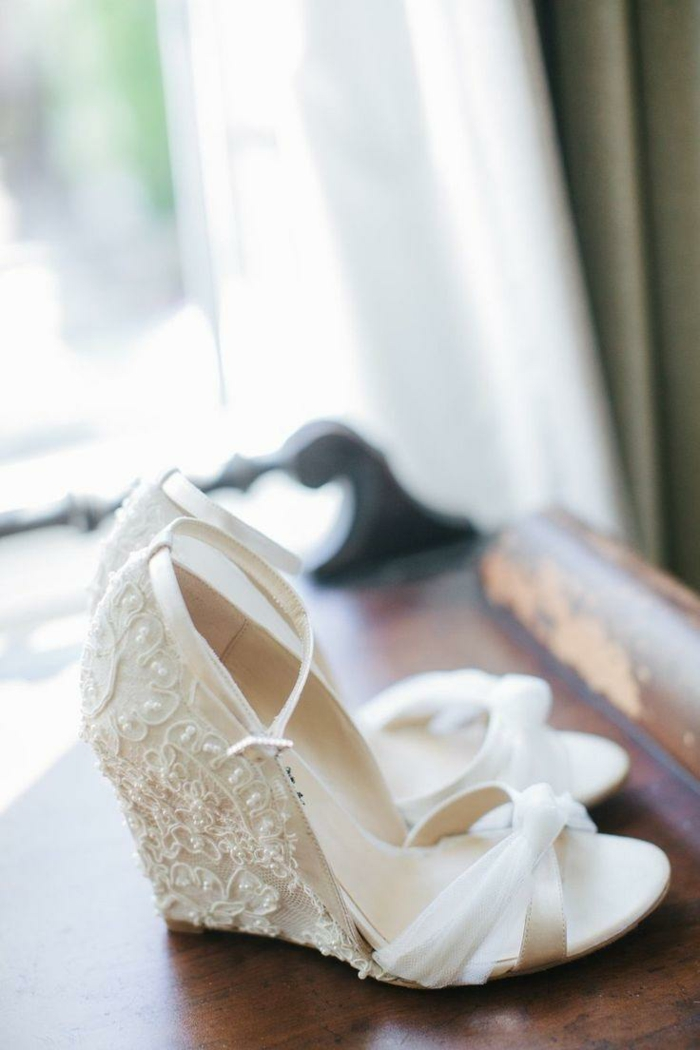 chaussures mariage femme dentelle