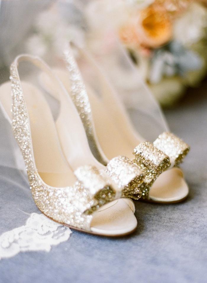 chaussures mariage femme idée avec des paillettes