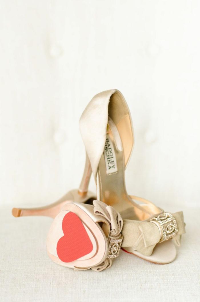chaussures mariage femme idée diy