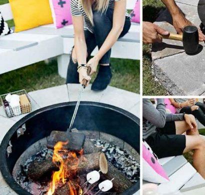 comment construire un brasero barbecue en 4 tapes faciles. Black Bedroom Furniture Sets. Home Design Ideas