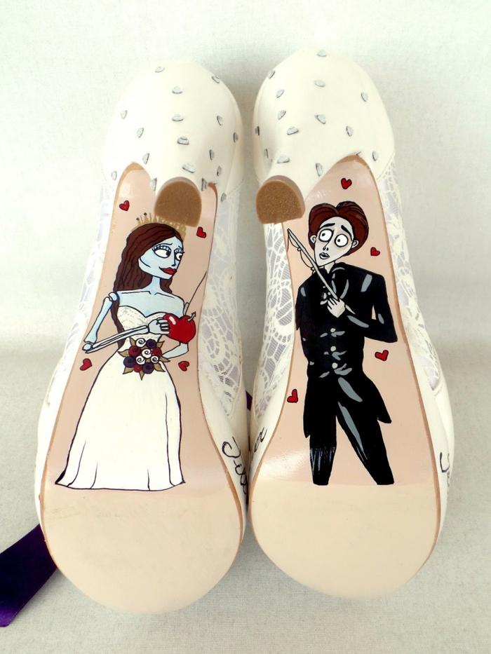 comment décorer les chaussures mariage femme