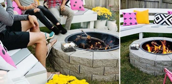 construire brasero barbecue en pierres