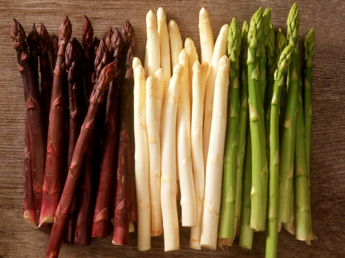 cuisson asperges blanches - couleurs