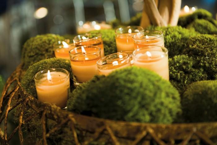 déco bougies mariage champêtre