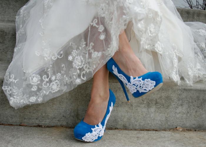 déco chaussures mariage femme avec dentelle