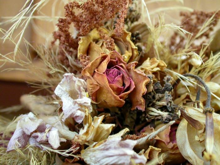 déco originale avec des fleurs séchées