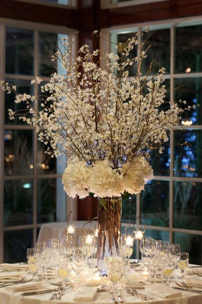 déco table mariage avec des fleurs séchées
