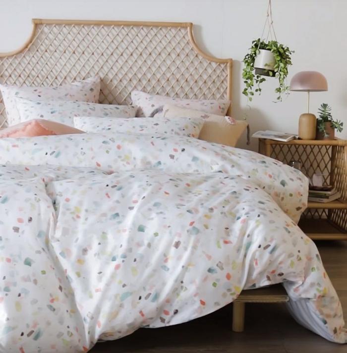 décoration intérieur linge de lit design terrazzo