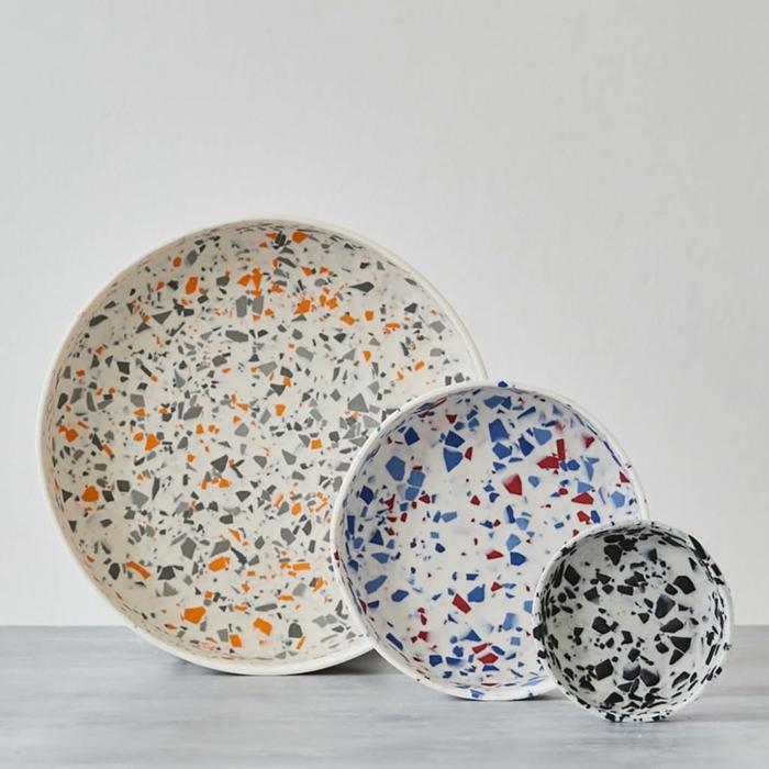 décoration intérieur porcelaine motifs terrazzo