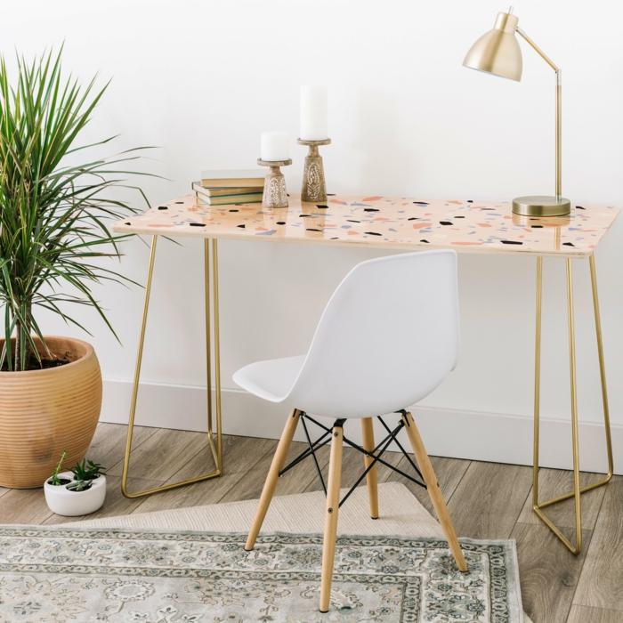 décoration intérieur table terrazzo