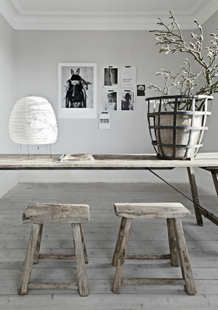 design intérieur selon la tendance japandi