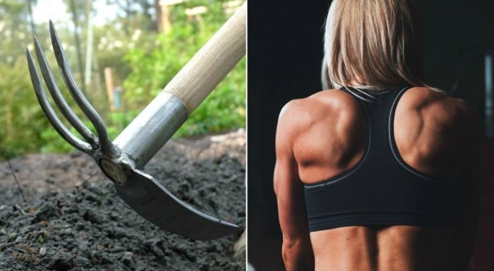entraîner votre dos avec des outils jardinage