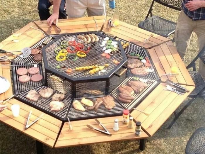 faire soi-même un brasero barbecue