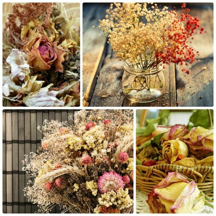 fleurs séchées idée déco maison