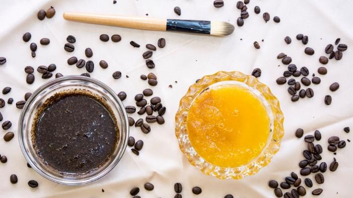 gommage visage maison café miel