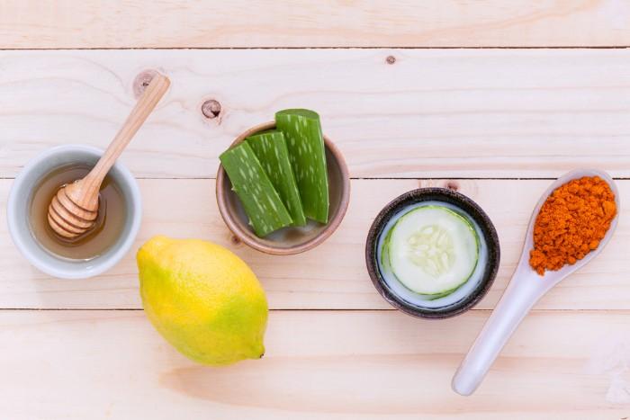 gommage visage maison curcuma citron