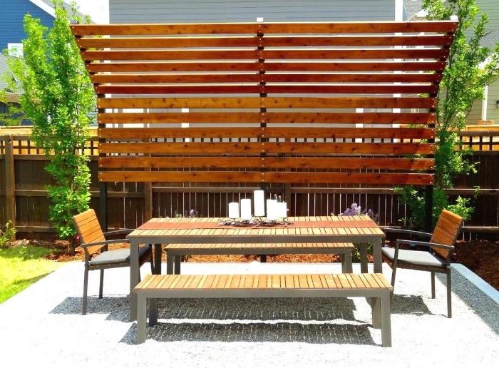 idée brise-vue en bois jardin