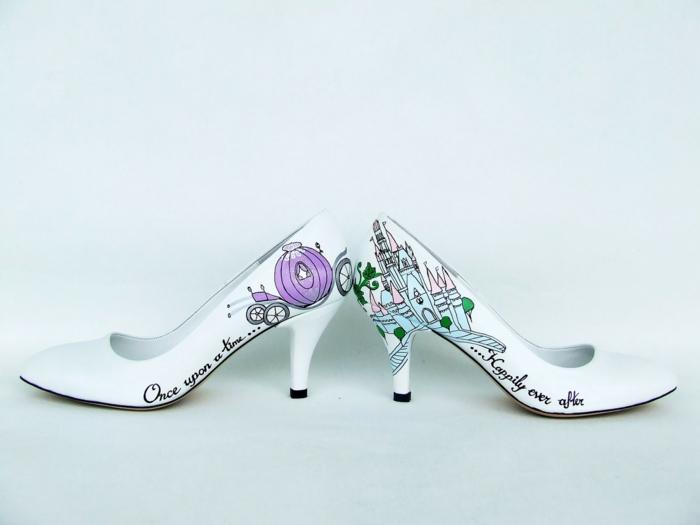 idée comment customiser les chaussures mariage femme