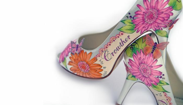 idée déco chaussures mariage femme