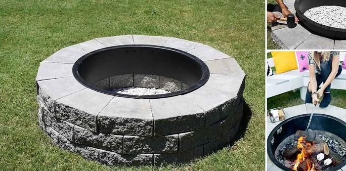 idée de brasero barbecue en pierre
