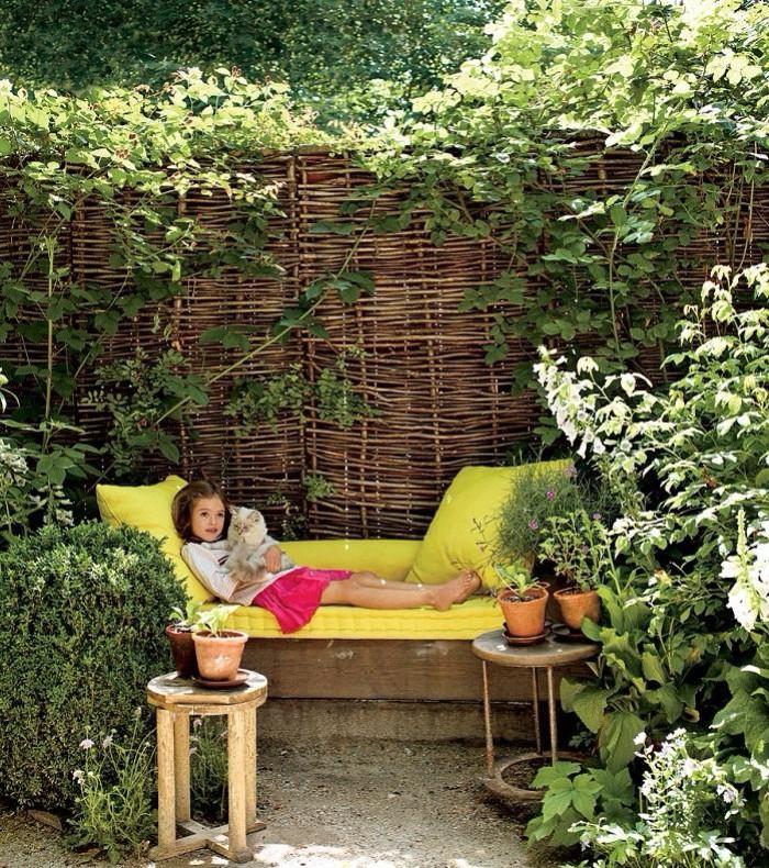 idée de brise-vue jardin treillis