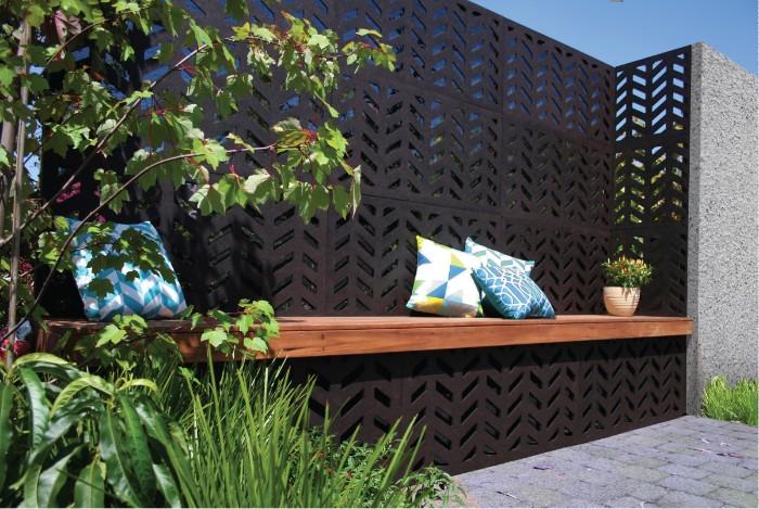 idée de brise-vue pour jardin acier corten