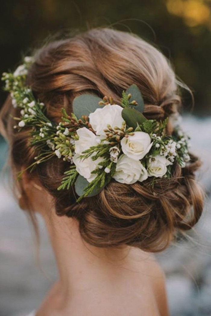 idée de coiffure mariage champêtre