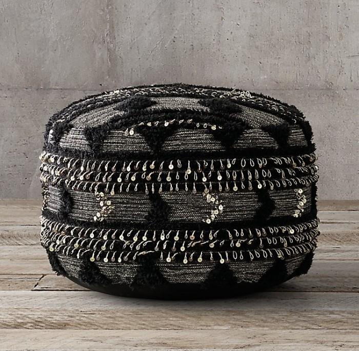 idée de déco pouf pneu recyclé
