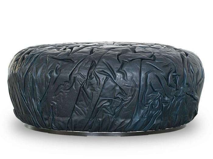 idée de pouf design pneu recyclé