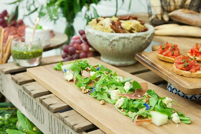 idée de repas pour mariage champêtre