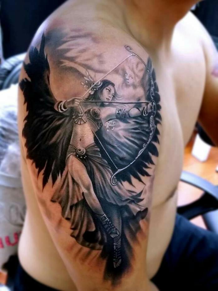 tatouage ange signification et id es de mod les originaux. Black Bedroom Furniture Sets. Home Design Ideas