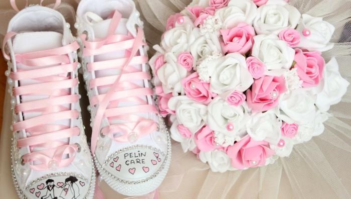 idée originale de chaussures mariage femme diy