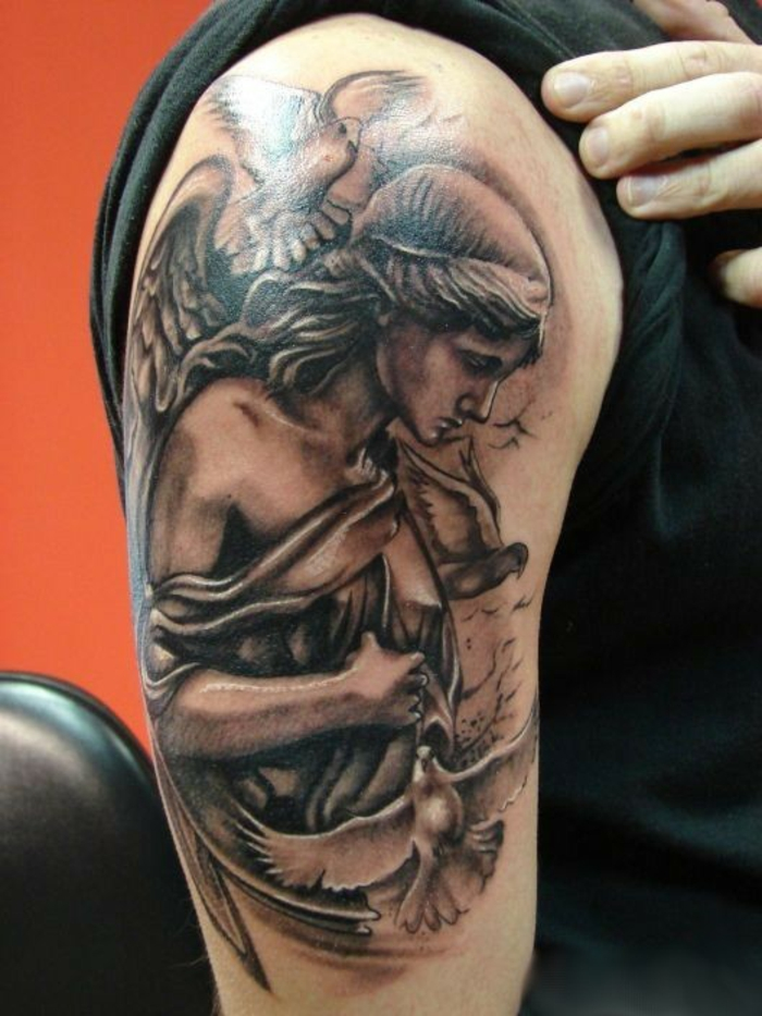 Tatouage ange signification et id es de mod les originaux - Dessin d ange gardien ...