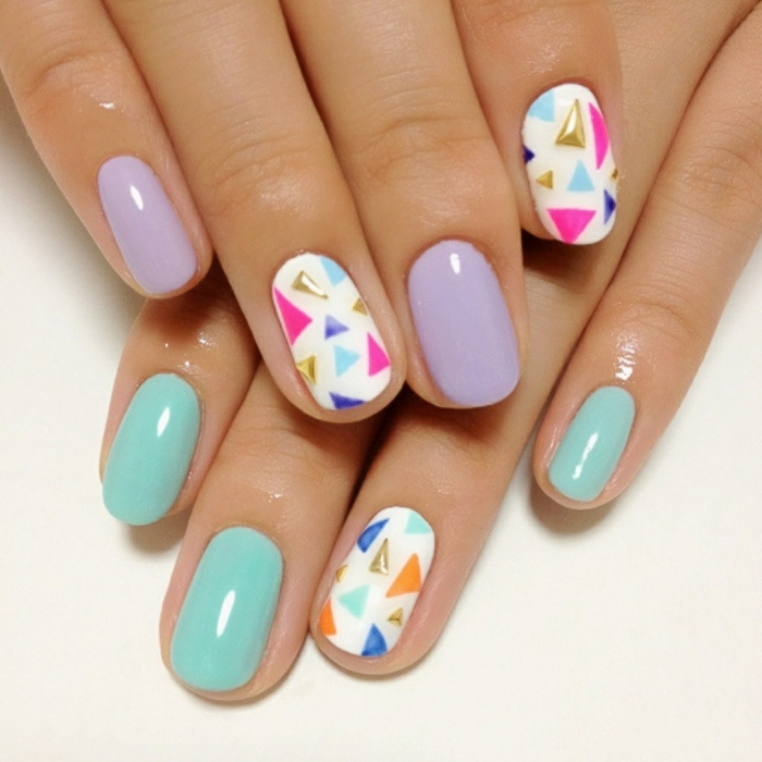 jolie manucure printemps nail art facile