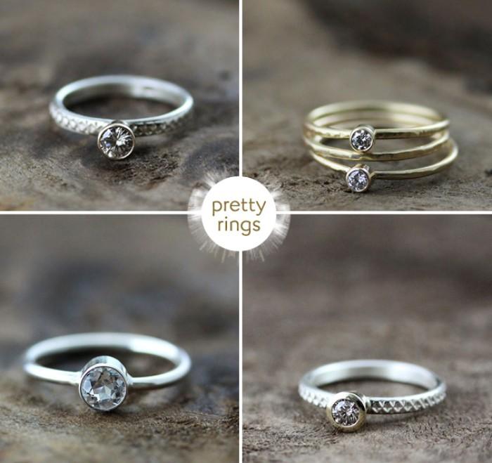 mariage champêtre anneau recyclé