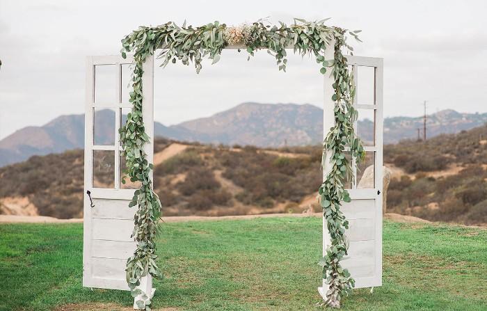 mariage champêtre arche fleurie créative