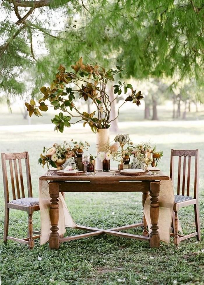 mariage champêtre idée déco table festive