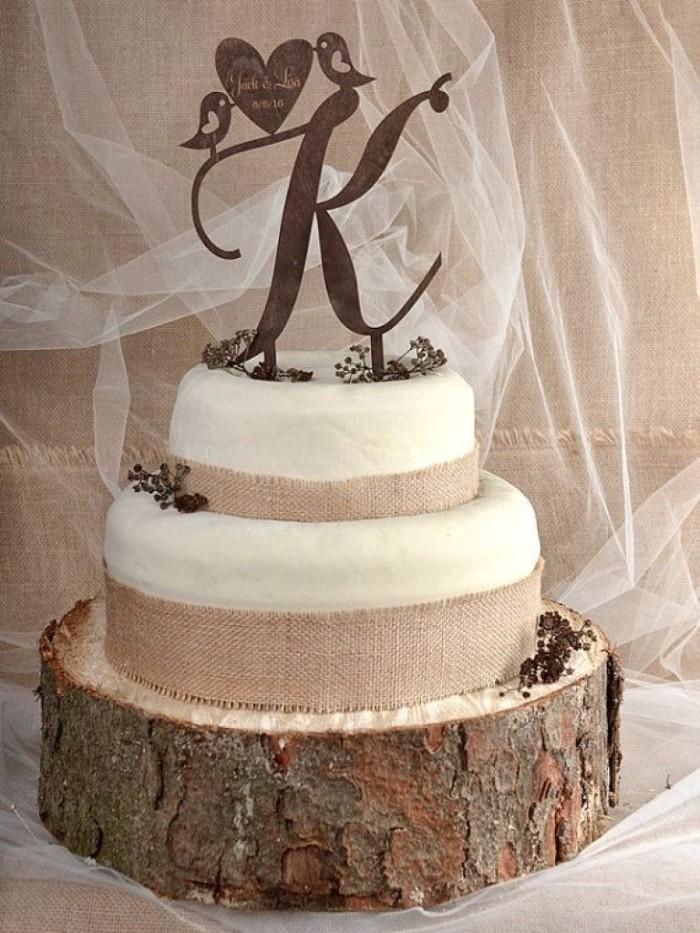 mariage champêtre idée gâteau