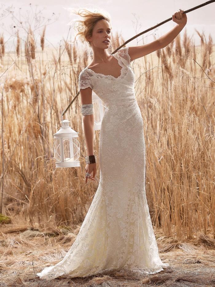 mariage champêtre idée robe de mariée