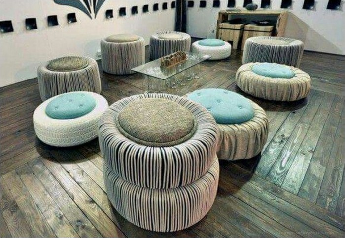 c 39 est quoi le pnouf un pouf design fabriqu avec un pneu recycl. Black Bedroom Furniture Sets. Home Design Ideas